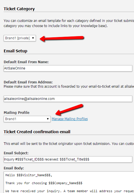 email templates for ticketing system