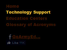 Technology Support Footer Link