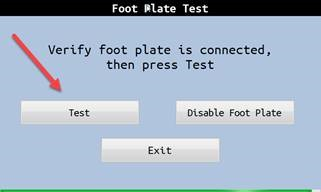 Foot Plate Test 1
