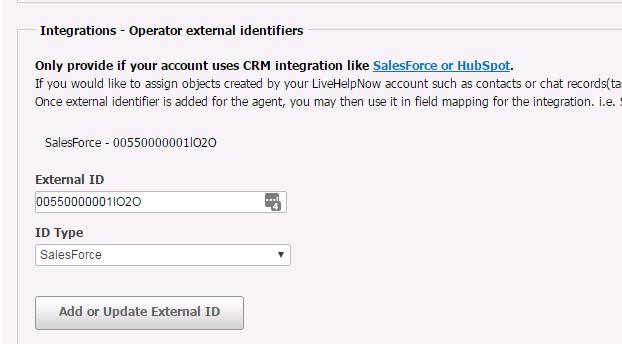 SalesForce Integration for LiveHelpNow Chat System