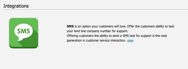 SMS Chat  Supporting customers who like to text