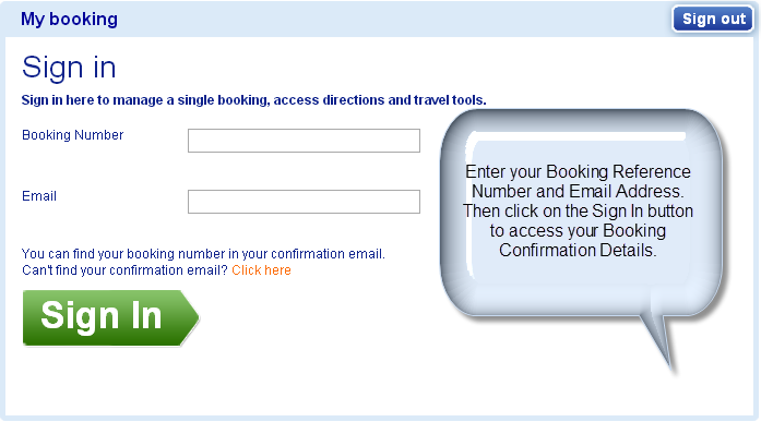 Modify My Booking Online