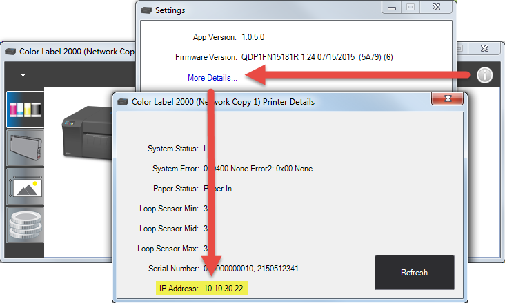 How do I find my LX2000 printer IP address? Can I change the IP