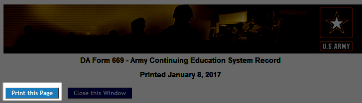 Soldier - How do I print my Student Record?