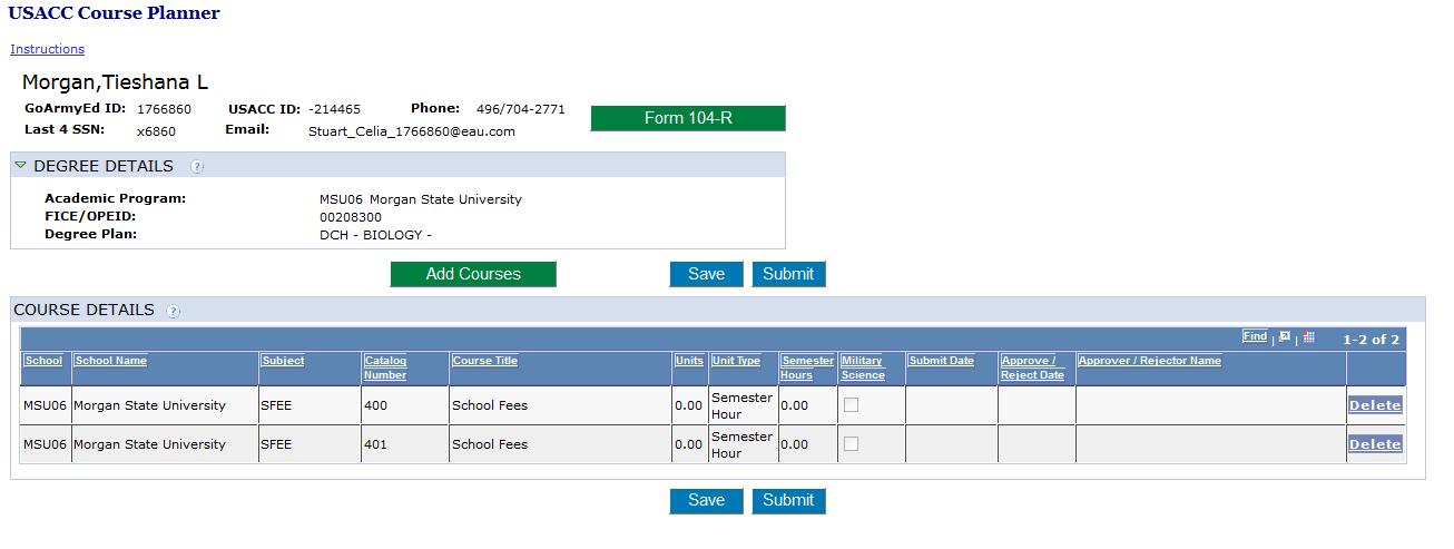 academic course planner