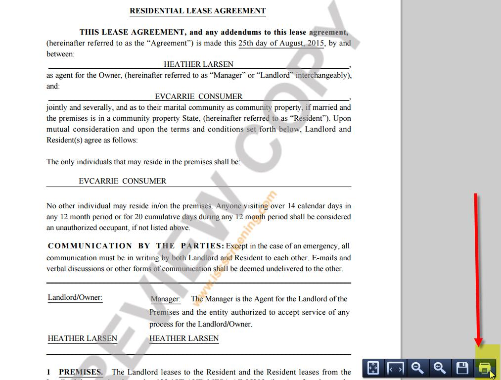 How To View And Print A Copy Of The Lease Agreement