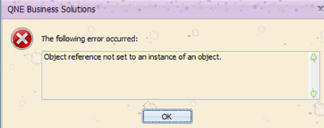 """Optimum] Error """"Object reference not set to an instance of an object"""