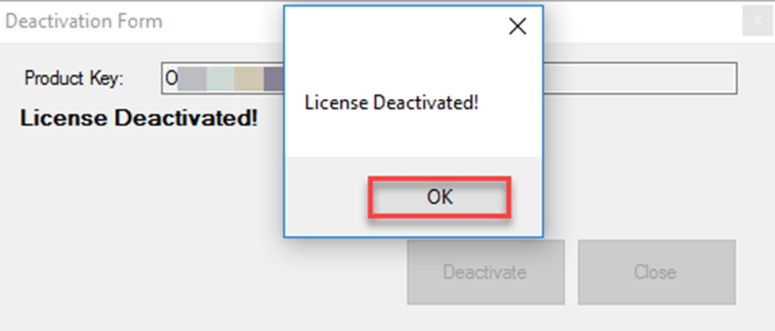 Deactivate a License in QLS Panel