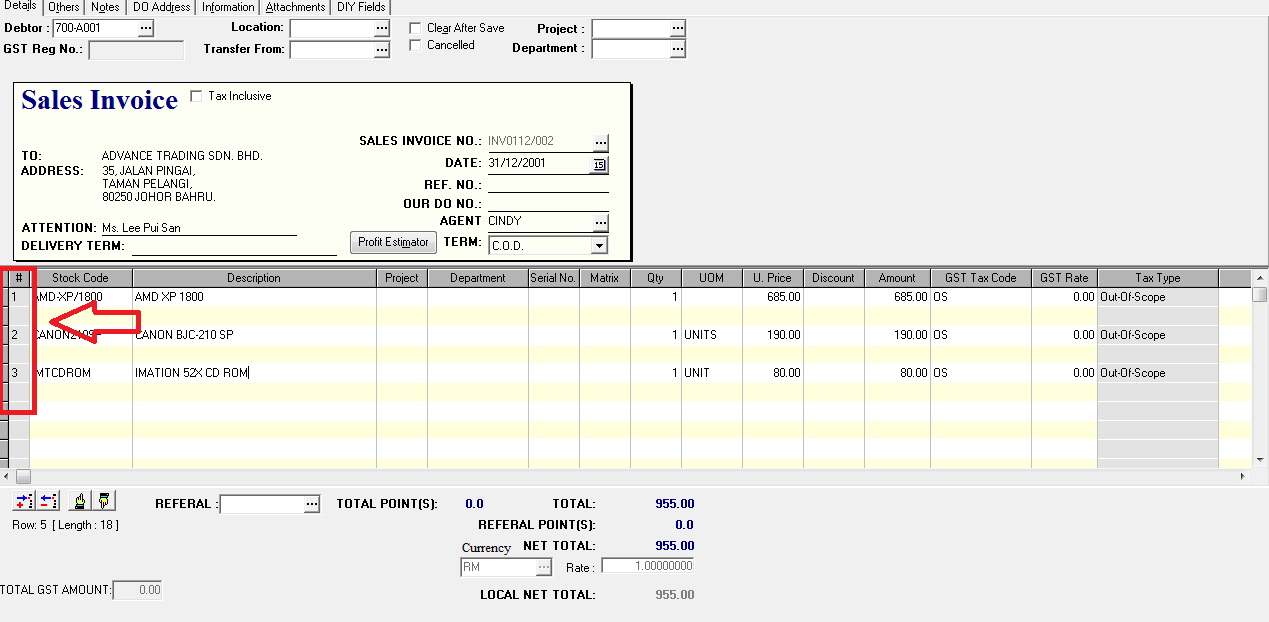 Delphi how to set item auto numbering when key in sales for Invoice numbering system