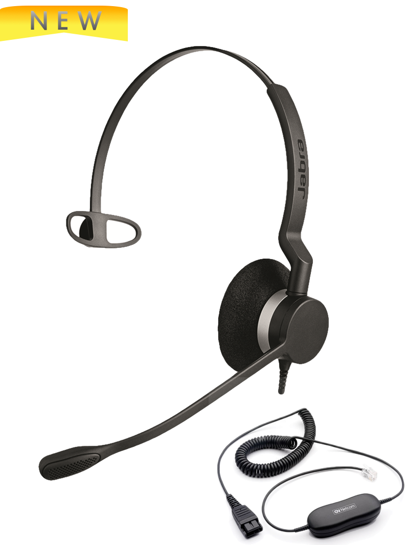 How to use a corded Plantronics, Jabra or VXi headset with