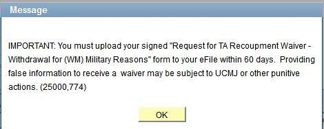 Step 9 Military Reason